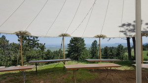 tented Colorado outdoor wedding