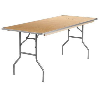 6ft banquet table with corner protection