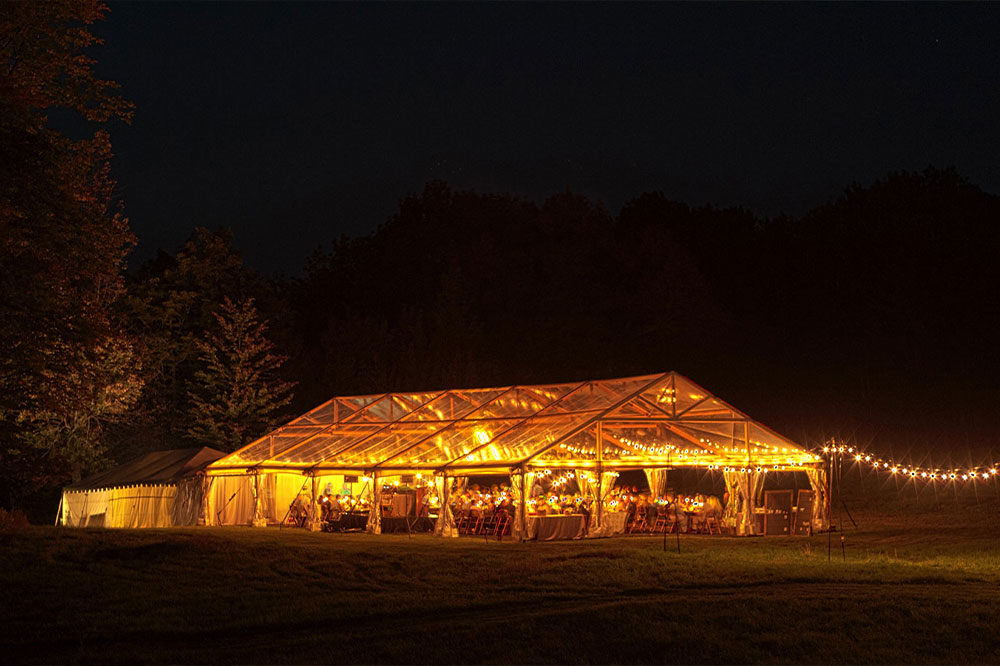 Lighted Tent - Wedding Planning