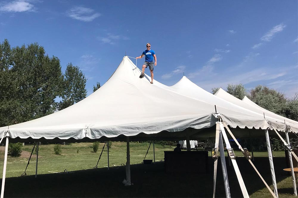 Event Staff Jobs Tent with Landon