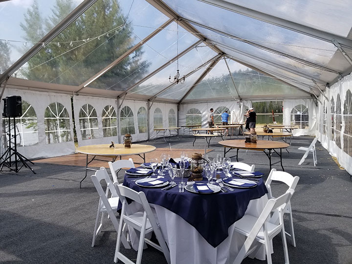 Outdoor Wedding Tips - Clear top tent