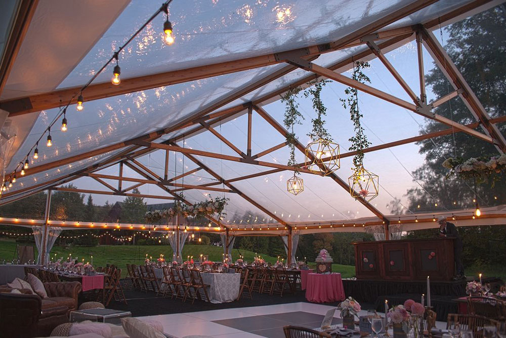 Outdoor Wedding Trends: Clear Tent Tops