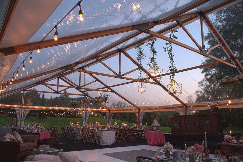 Outdoor Wedding Trends: Clear Tent Tops