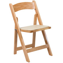 Natural wood wedding chair