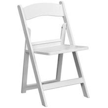 White resin wedding chair