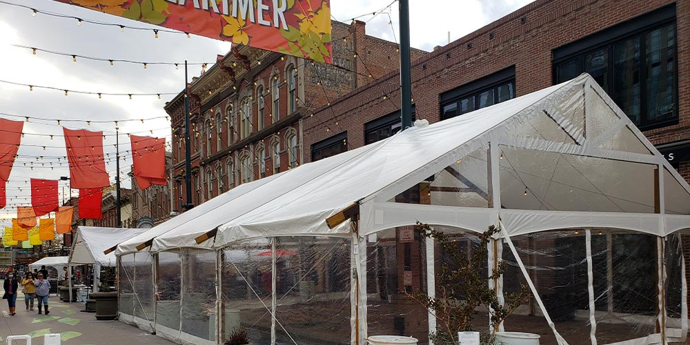 Brewery and Restaurant Tents by Benson Tent Rent