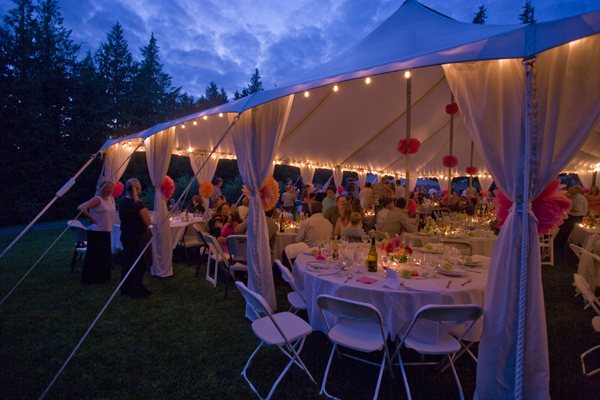 Benson Tent Rent & garden string lights