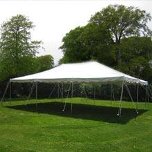 20′ x 30′ pole tent